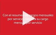 Reproducir el video de los cargos mensuales por servicio