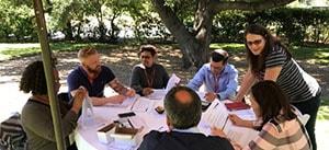 Clients participate in team building activity