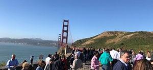 Visit to iconic Golden Gate Bridge, San Francisco, CA