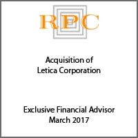Exclusive Financial Advisor for RPC on its acquisition of Letica Corporation