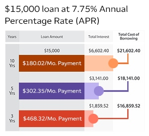 A higher loan amount may require a longer term to keep your monthly payments manageable.