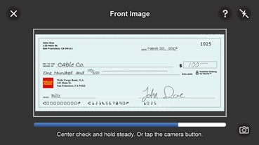 Sign The Back Of Your Check And Write For Mobile Deposit At Wells Fargo Bank Only Below Signature Or If Available Box That Reads