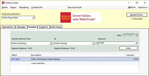 Select Transfers And Choose The Account From Which You Will Transfer Money To Amount Then Enter