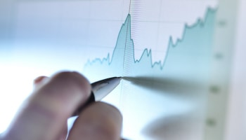 Person drawing a chart