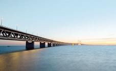 Long bridge over water
